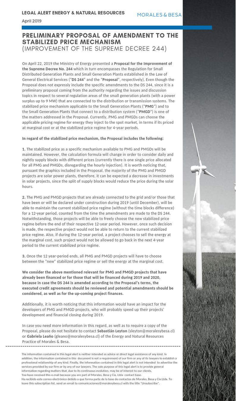 Legal Alert Energy and NR April 2019