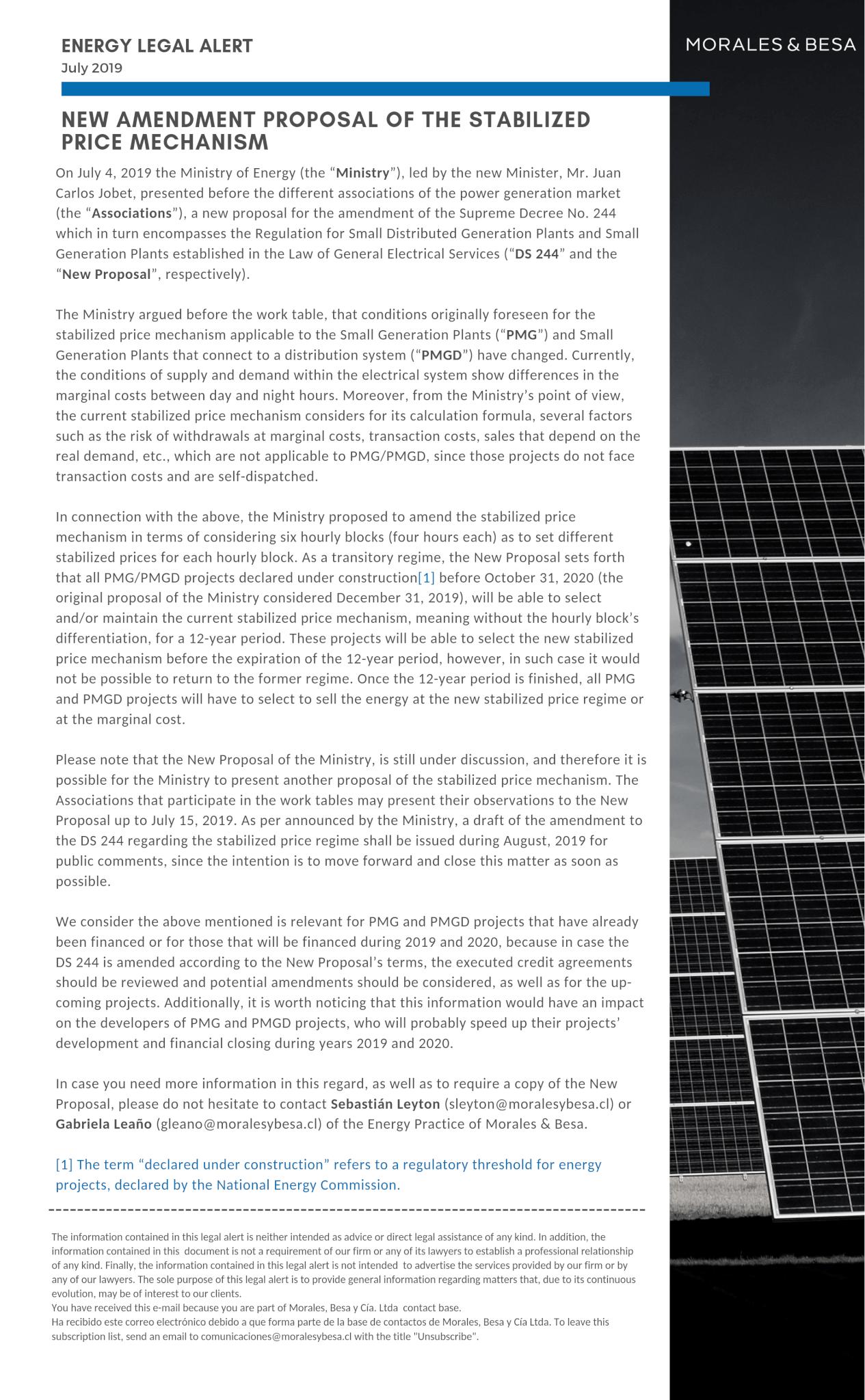 Legal Alert M&B - Energy - July 2019