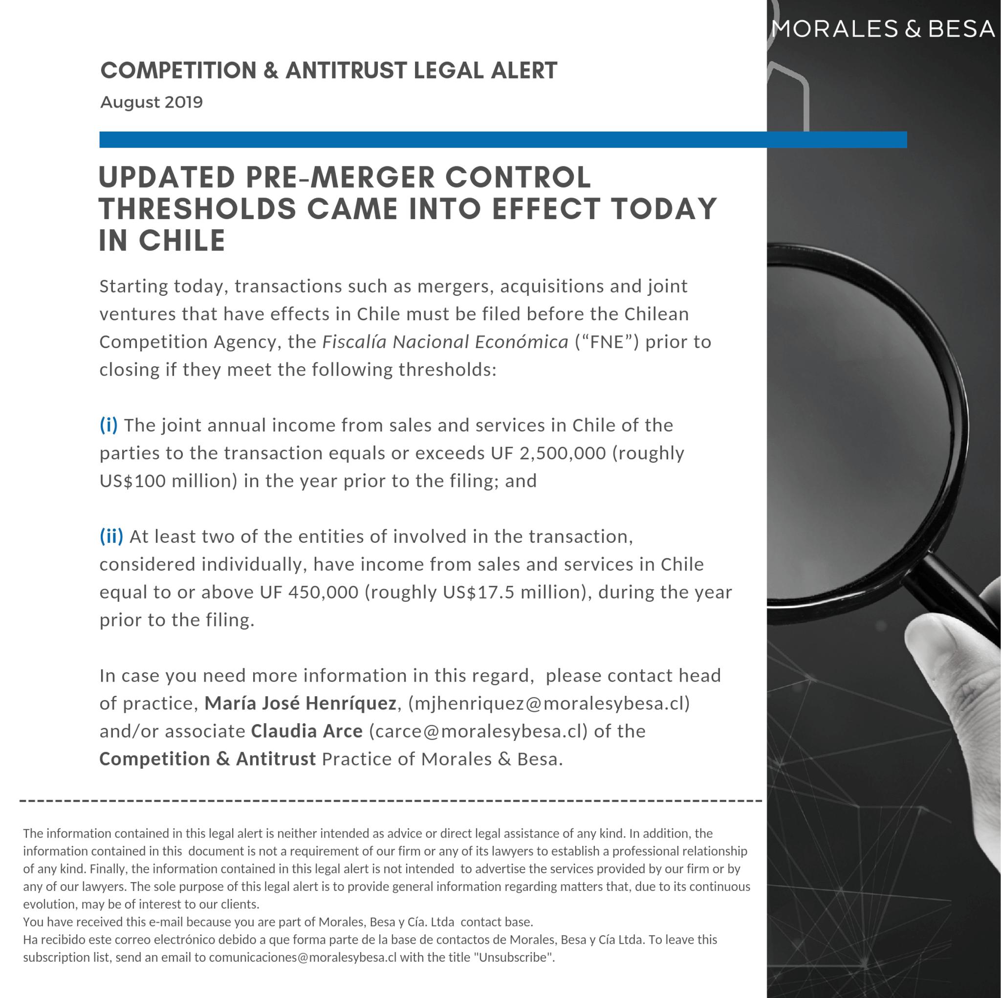 Legal Alert Competition & Antitrust - August 2019