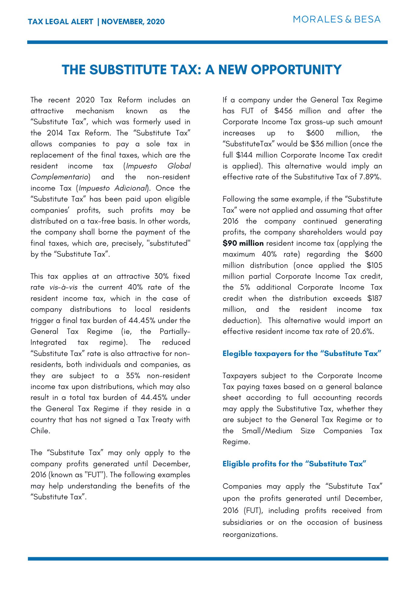 M&B Legal Alert -Tax - November 2020