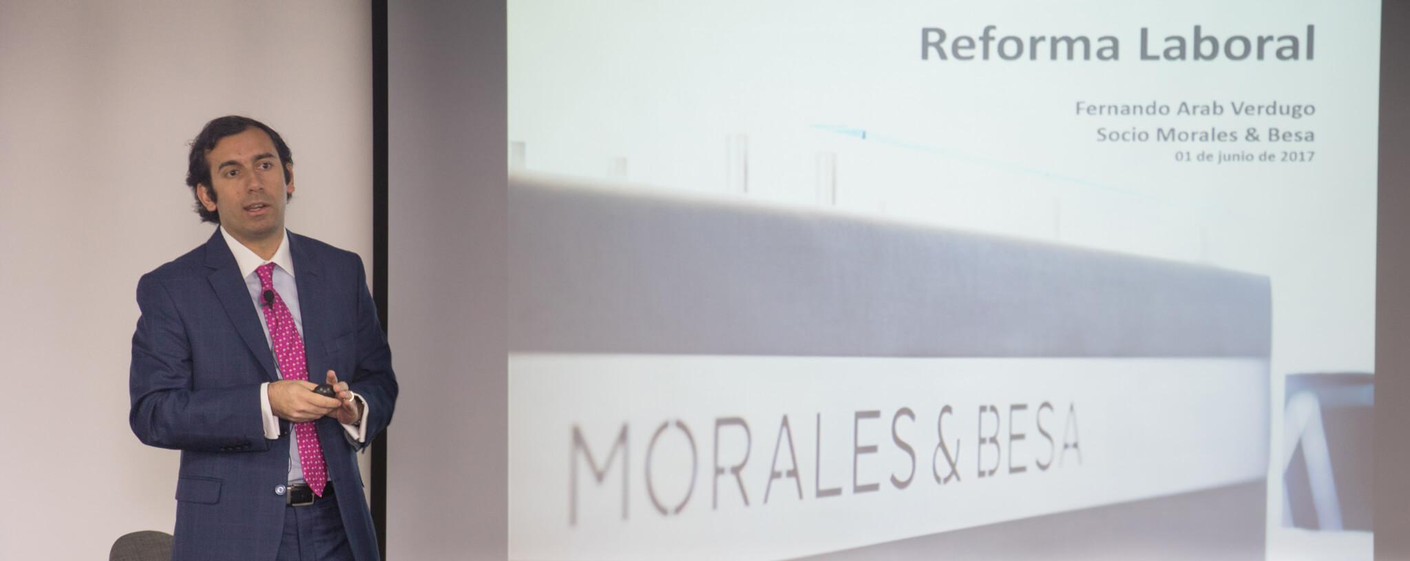 """Fernando Arab participa en seminario """"Radiografía Laboral"""" donde se analizan los primeros efectos de la puesta en marcha de la nueva ley"""