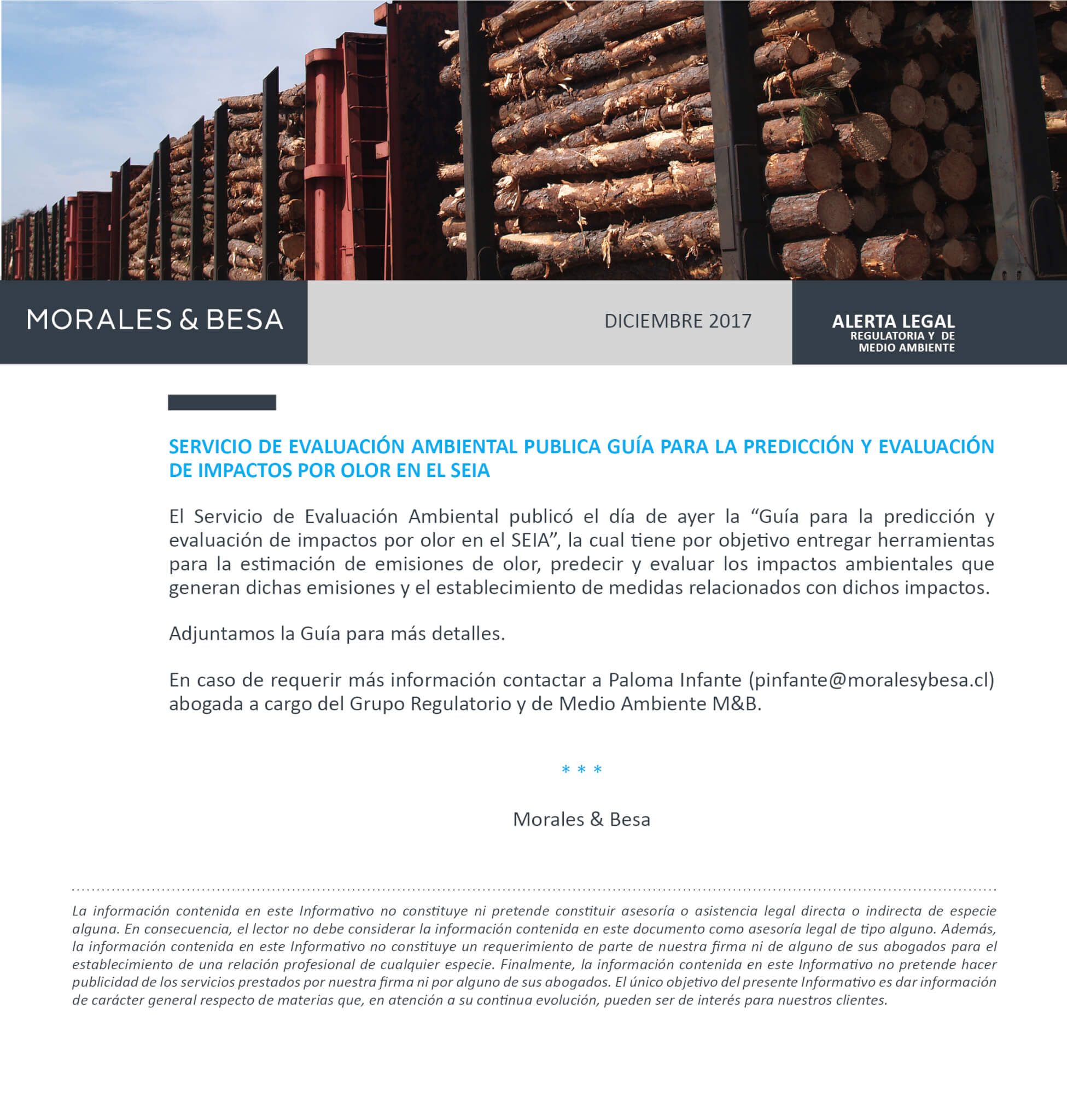 Morales & Besa_Alerta Legal_Regulatoria_Guía SEIA para olores_Diciembre 2017