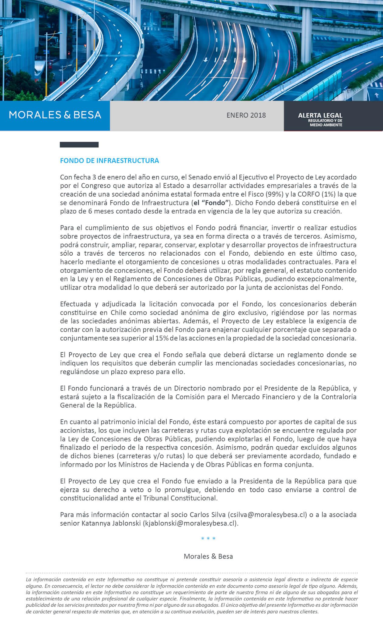 Morales & Besa_Alerta Legal_Fondo de infraestructura_Enero 2018