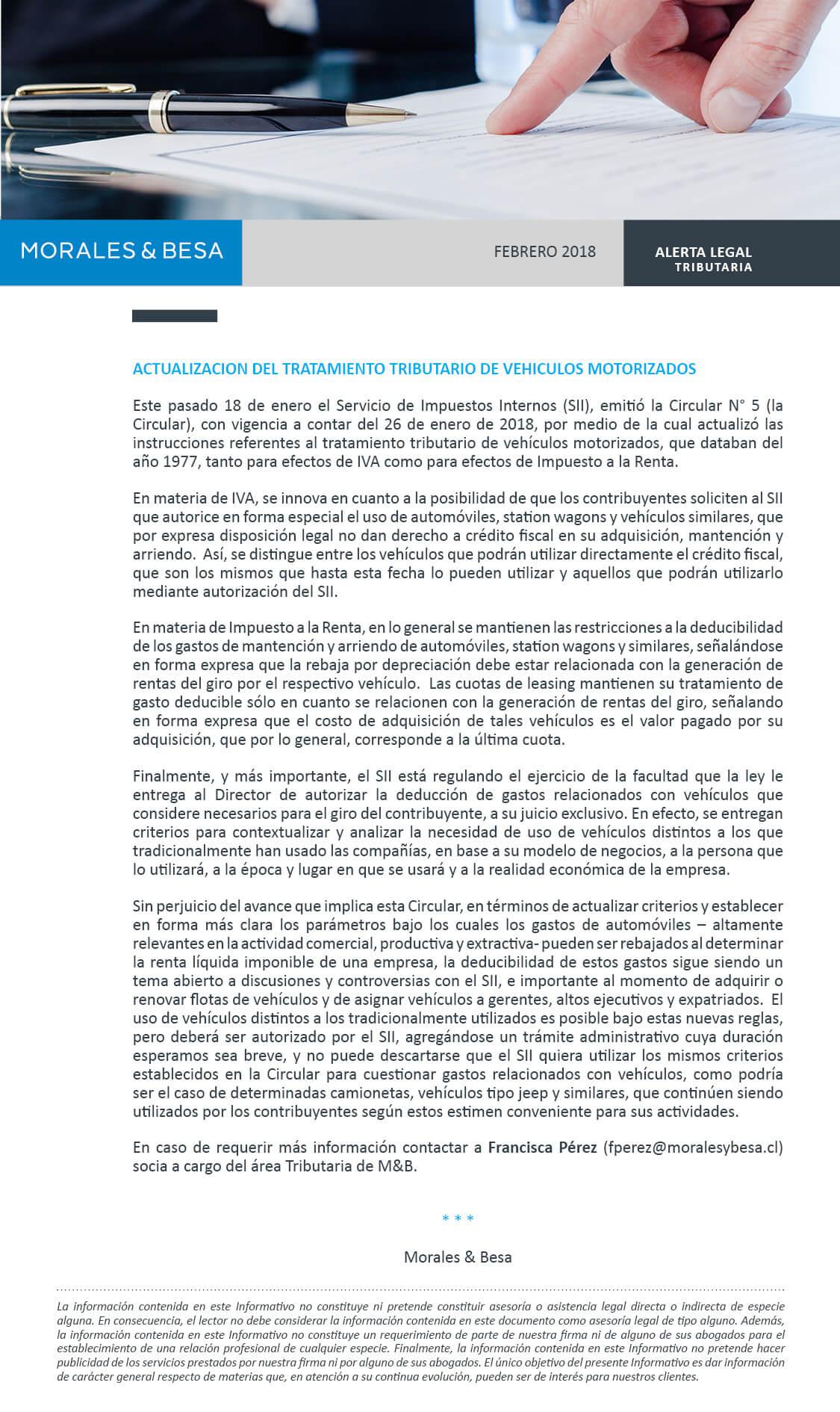 Morales & Besa_Alerta Legal_Tributaria_Febrero 2018