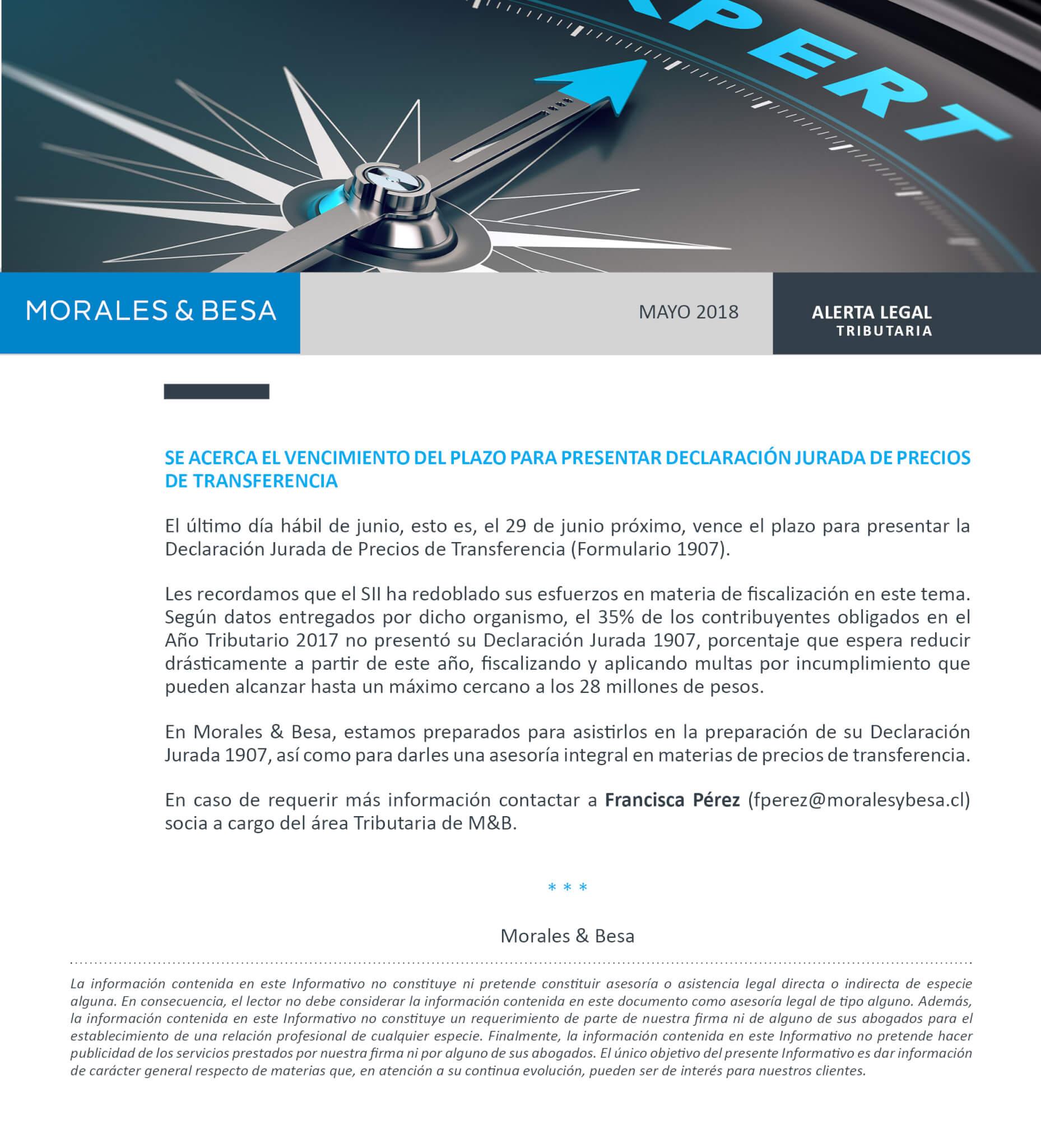 Morales & Besa_Alerta Legal_Tributaria_Mayo 2018
