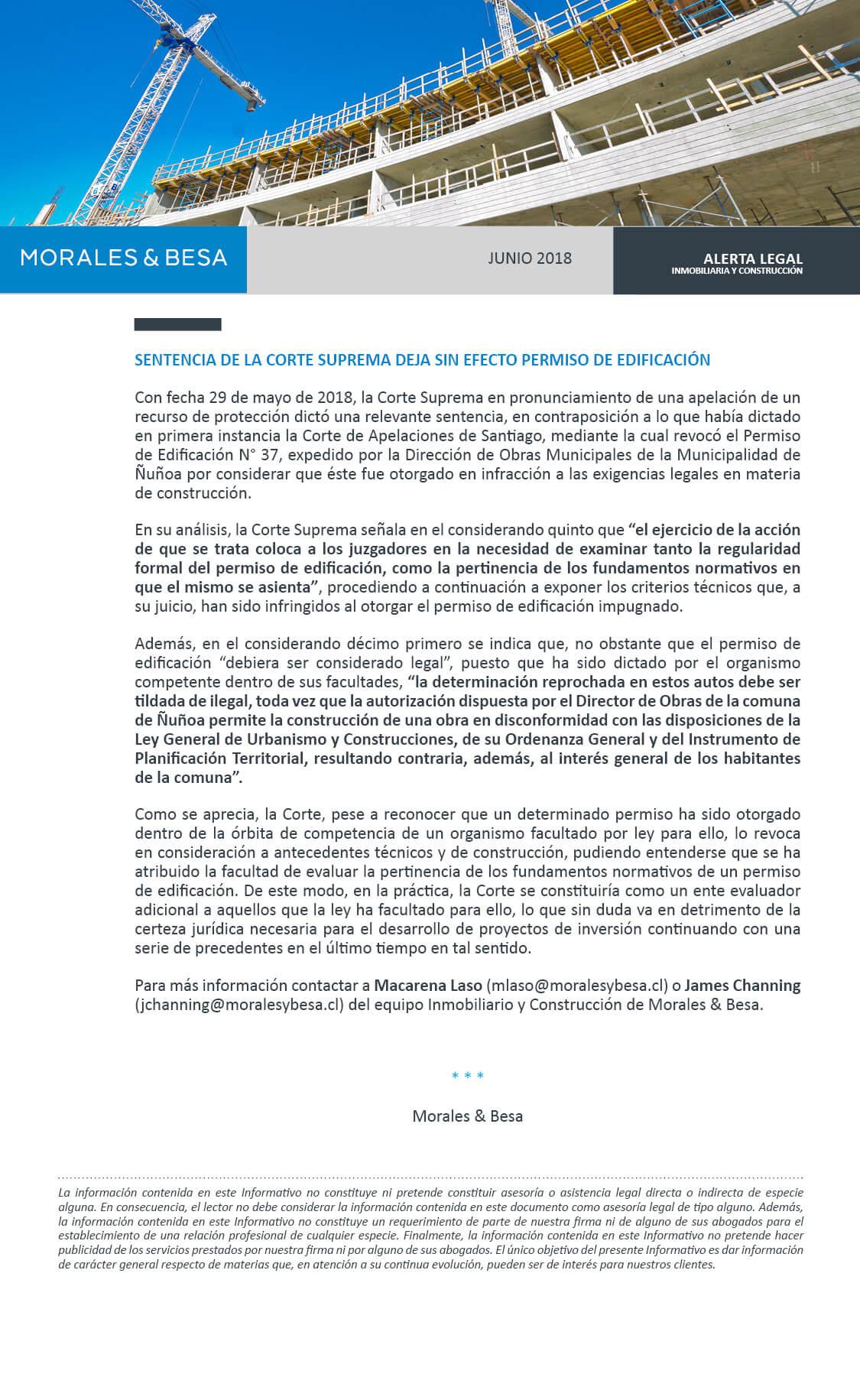Morales & Besa_Alerta Legal_Inmobiliaria y Construcción_Junio 2018