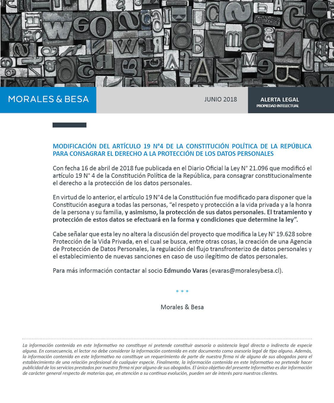 Morales & Besa_Alerta Legal_Propiedad Intelectual_Junio 2018