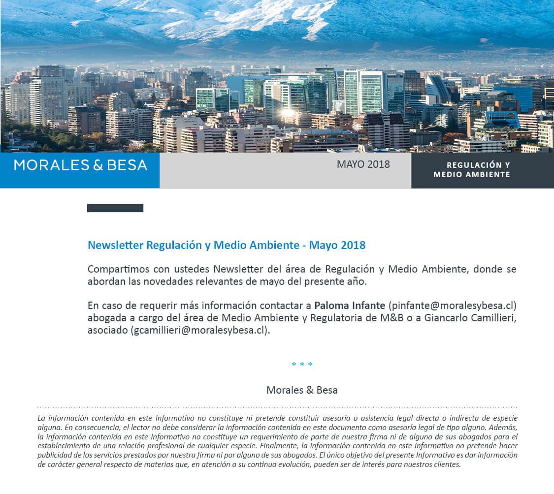 Morales & Besa_presentación de Newsletter Medio Ambiente Mayo 2018