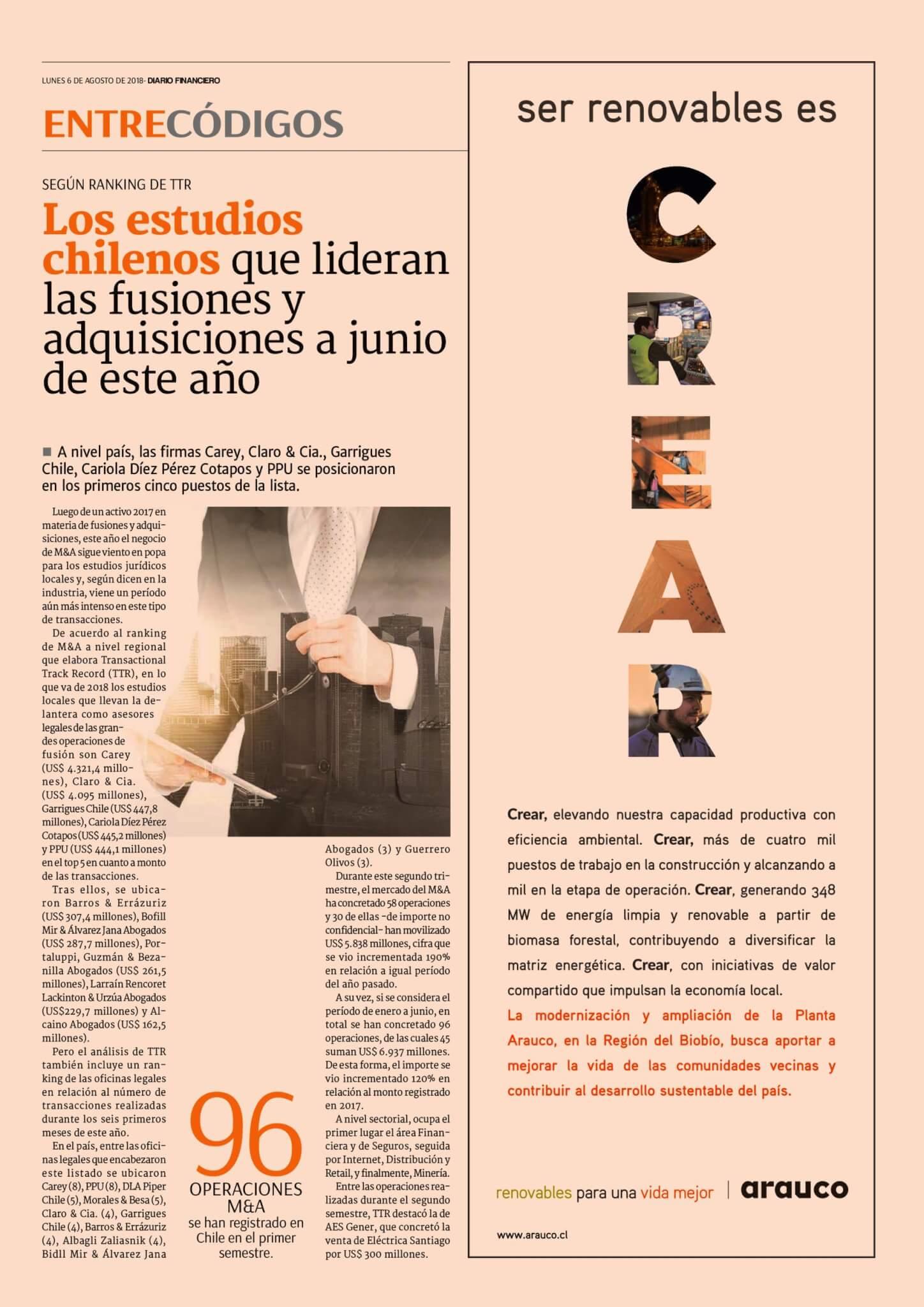 Diario Financiero - Entre Códigos - TTR