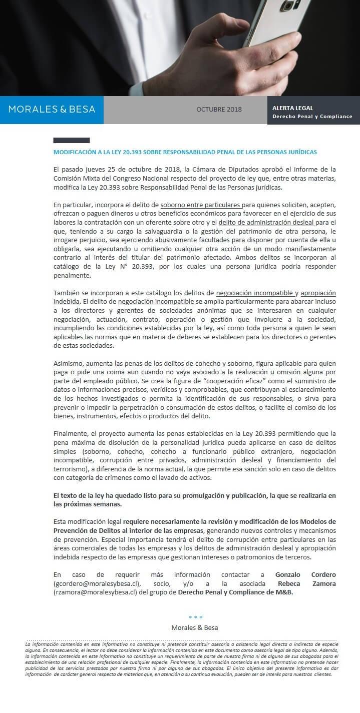 ALERTA LEGAl compliance 2018