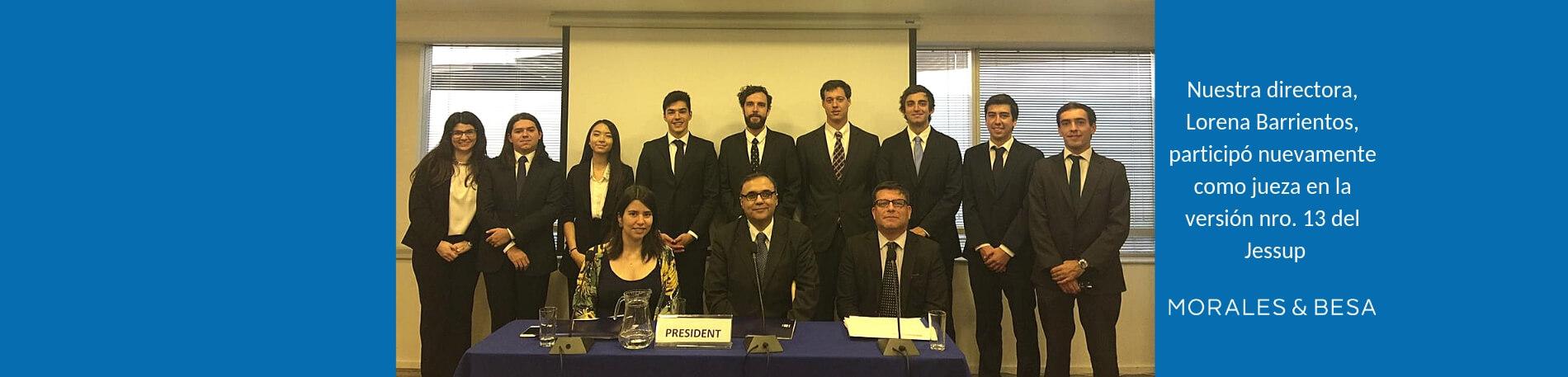 Lorena Barrientos participó como jueza en evento Jessup