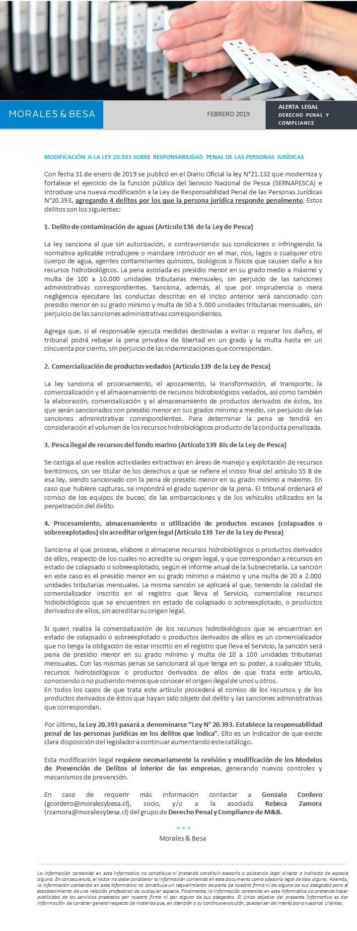 Alerta Legal - febrero 2019