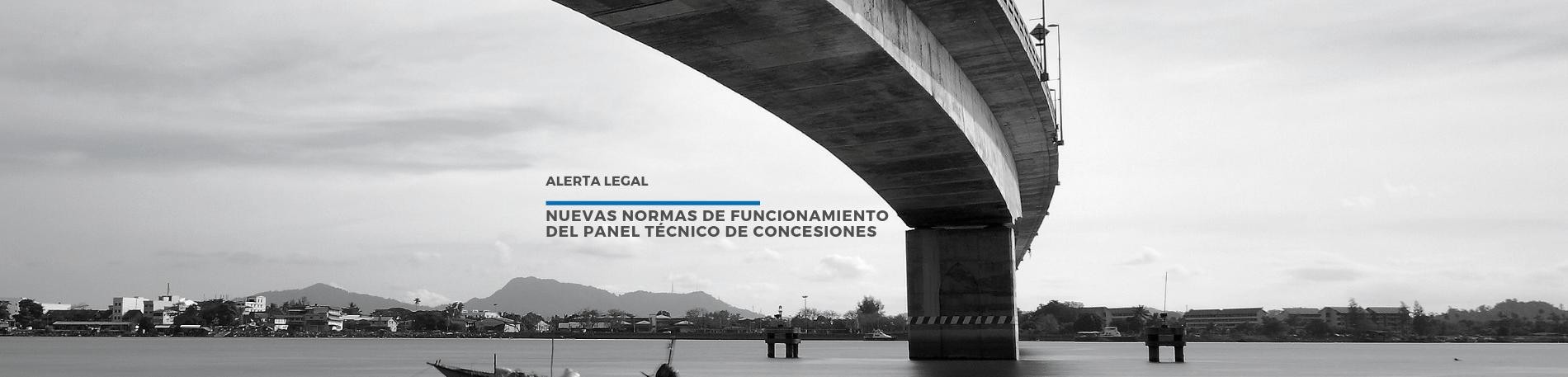 Alerta Legal | Nuevas normas de funcionamiento del Panel Técnico De Concesiones