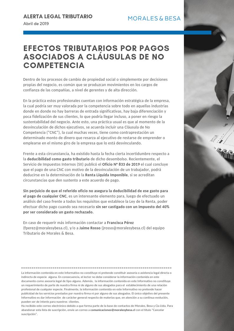 Alerta Legal Tributario - Abril 2019