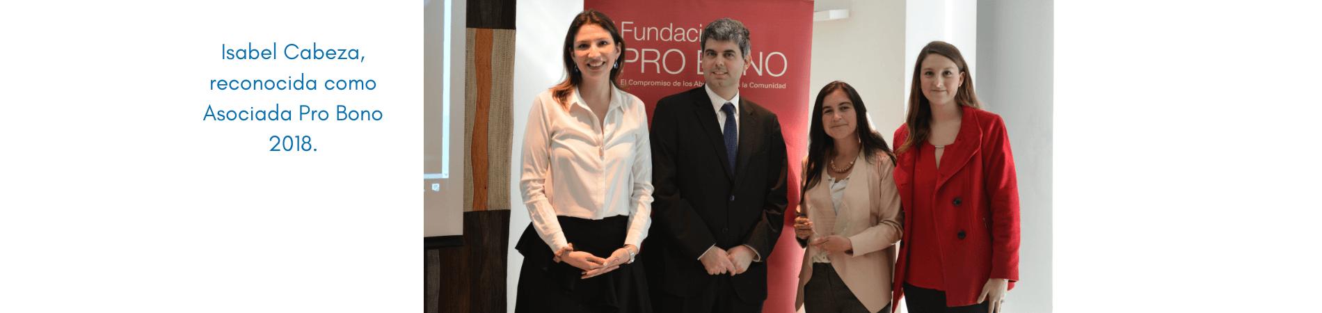 Isabel Cabeza: Asociada Pro Bono 2018