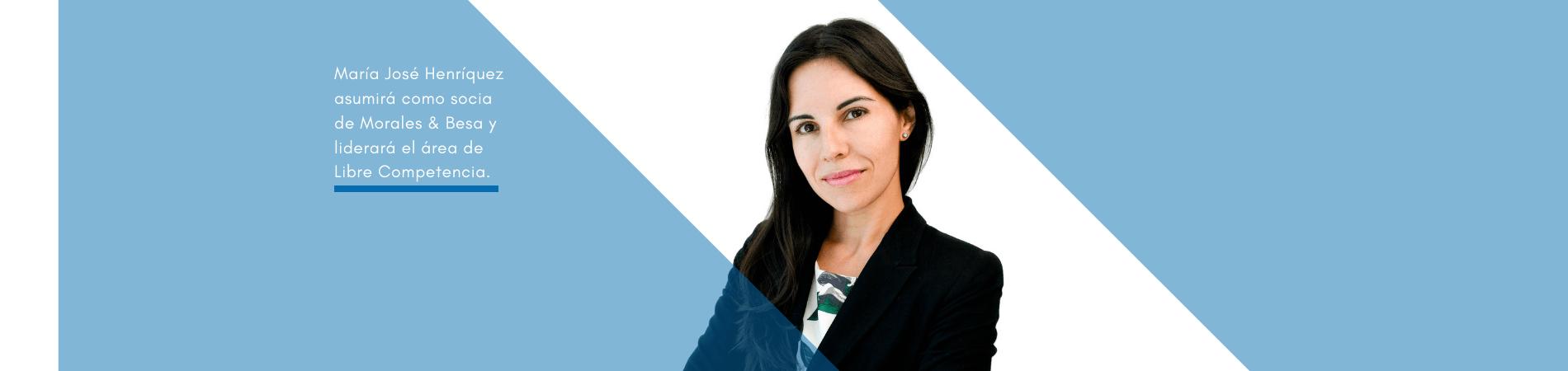 María José Henríquez asume como socia en Morales & Besa