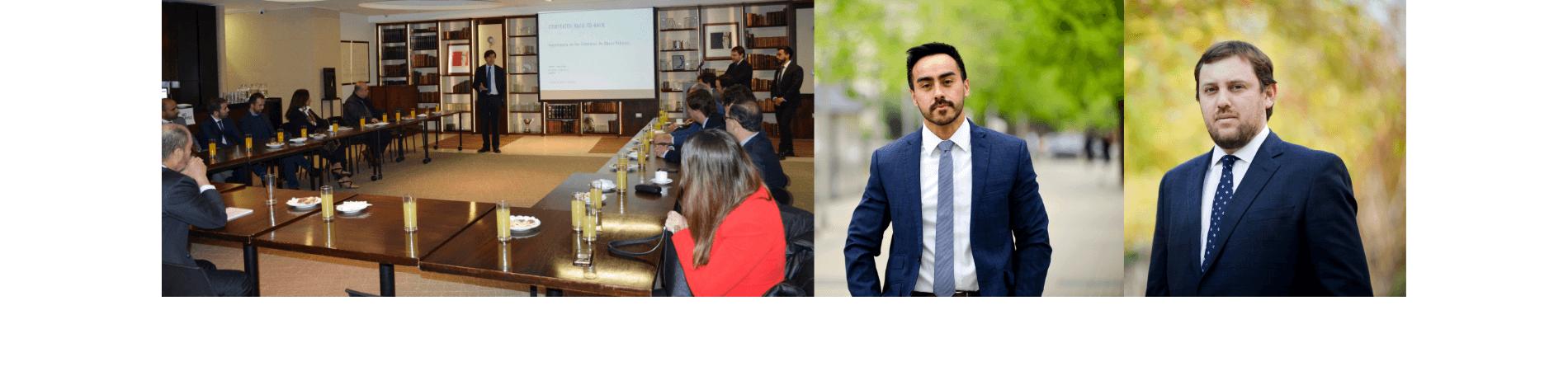 Orlando Palominos y James Channing expusieron en mesa redonda organizada por la Sociedad Chilena del Derecho de la Construcción