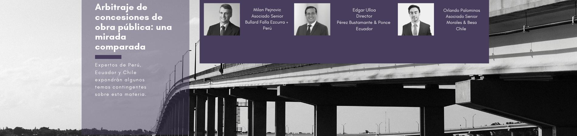 SEMINARIO | Arbitraje de concesiones de obra pública: una mirada comparada – 6 de septiembre