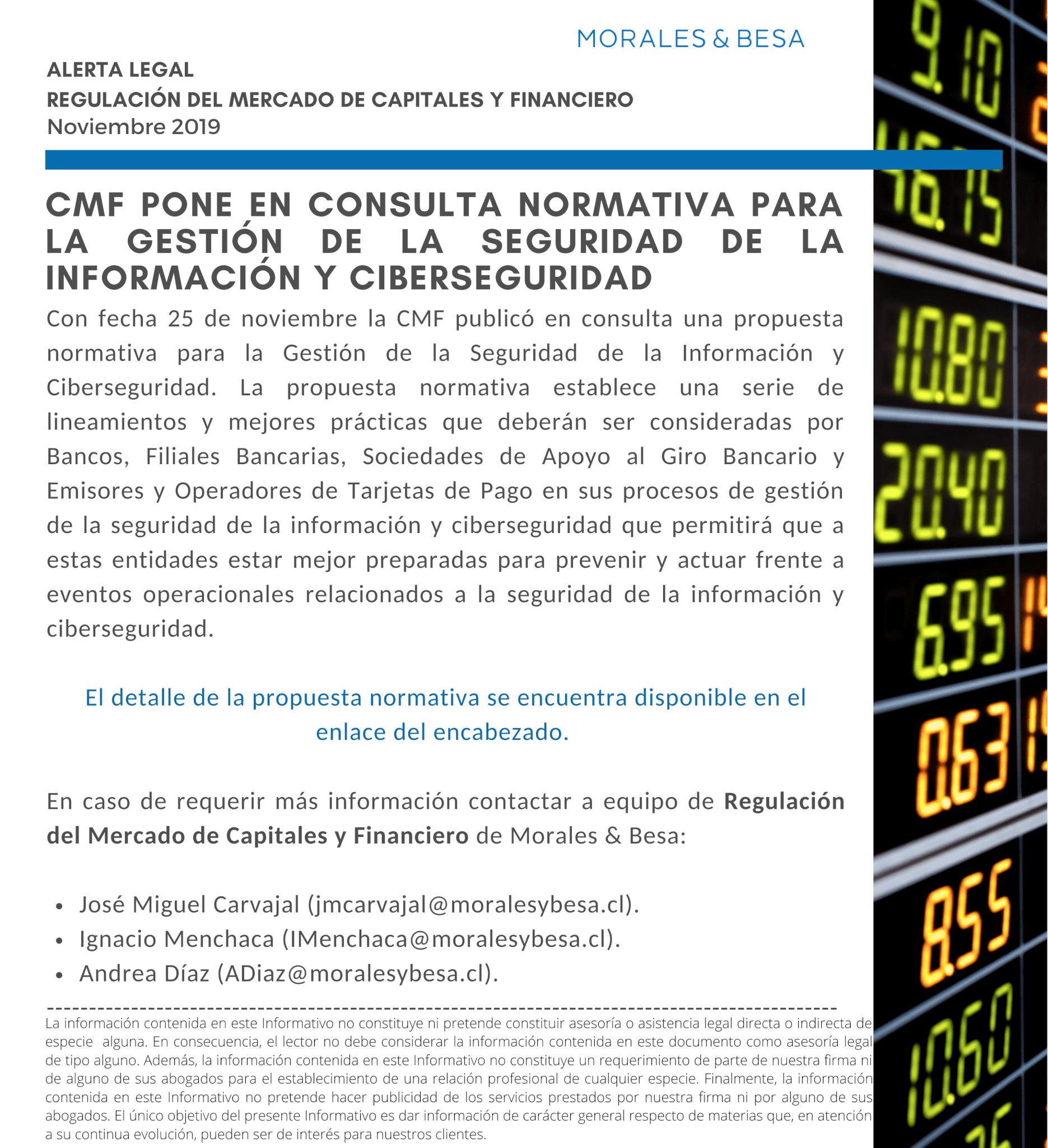 Alerta Legal M&B - R. del Mercado de Capitales y Financiero - Nov. 2019