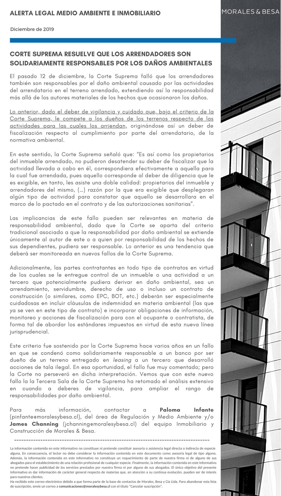 Alerta Legal M&B - Construcción y Medio Ambiente - Diciembre 2019