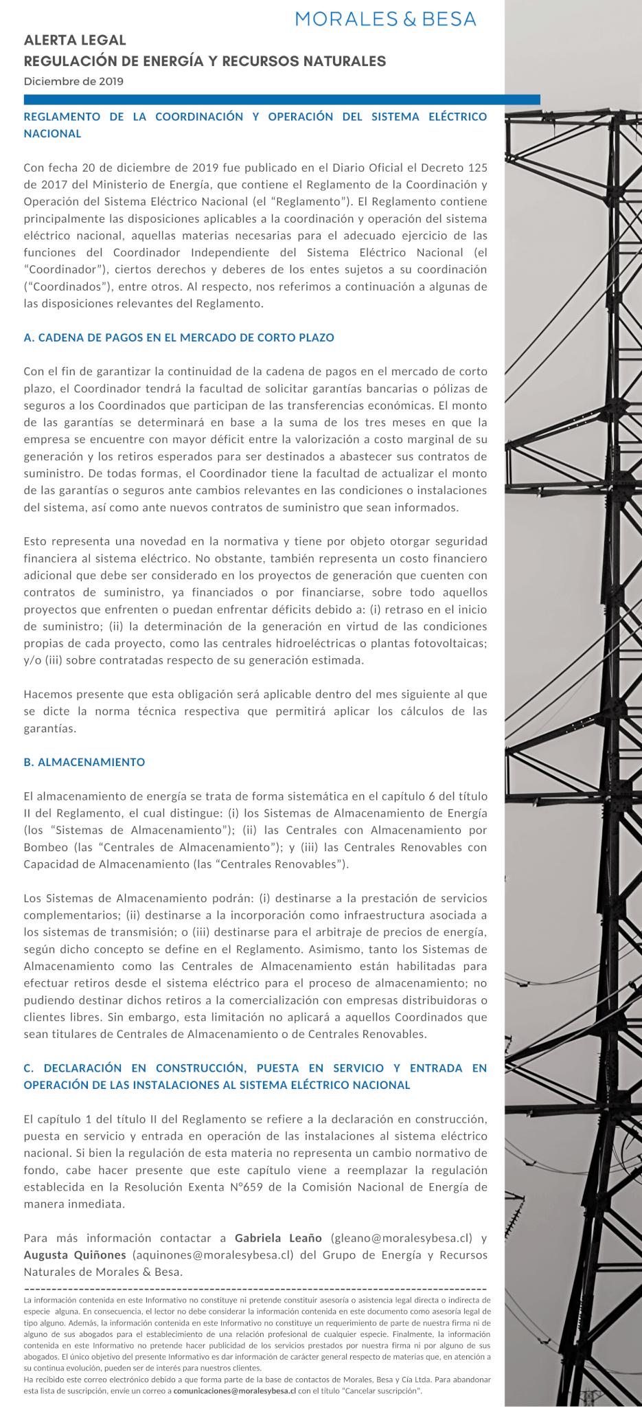Alerta Legal M&B - Energía y Recursos Naturales - Diciembre 2019