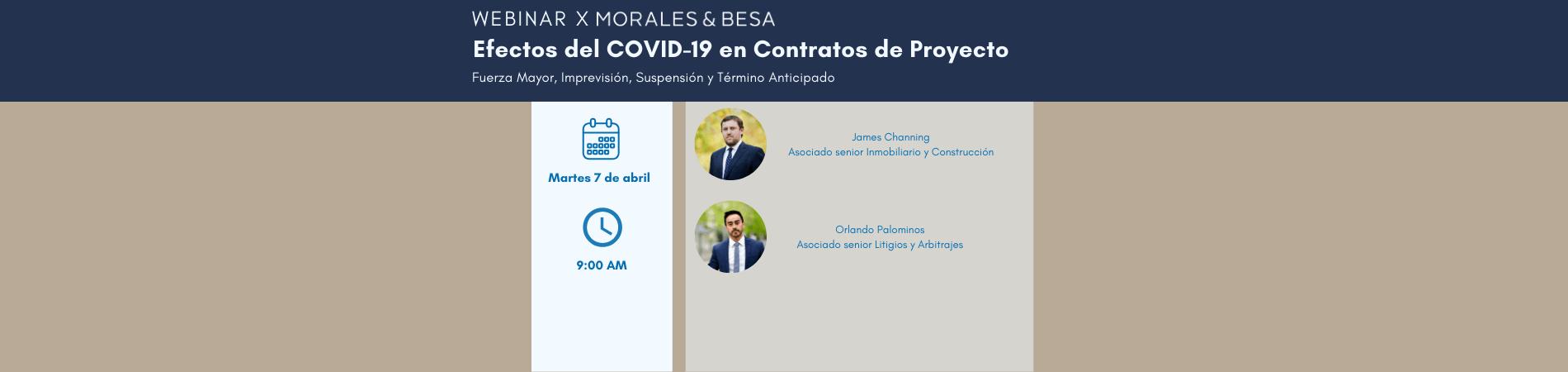 WEBINAR X MORALES & BESA | Efectos del COVID-19 en Contratos de Proyecto