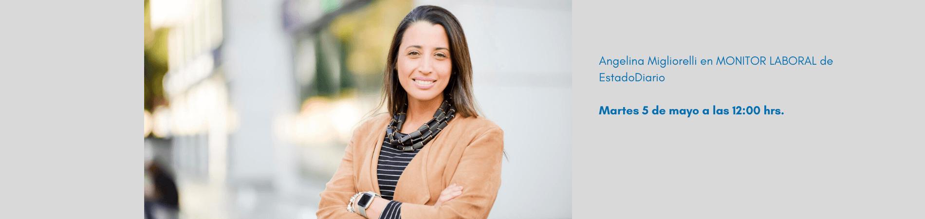 Angelina Migliorelli en la primera edición de «Monitor Laboral» de EstadoDiario