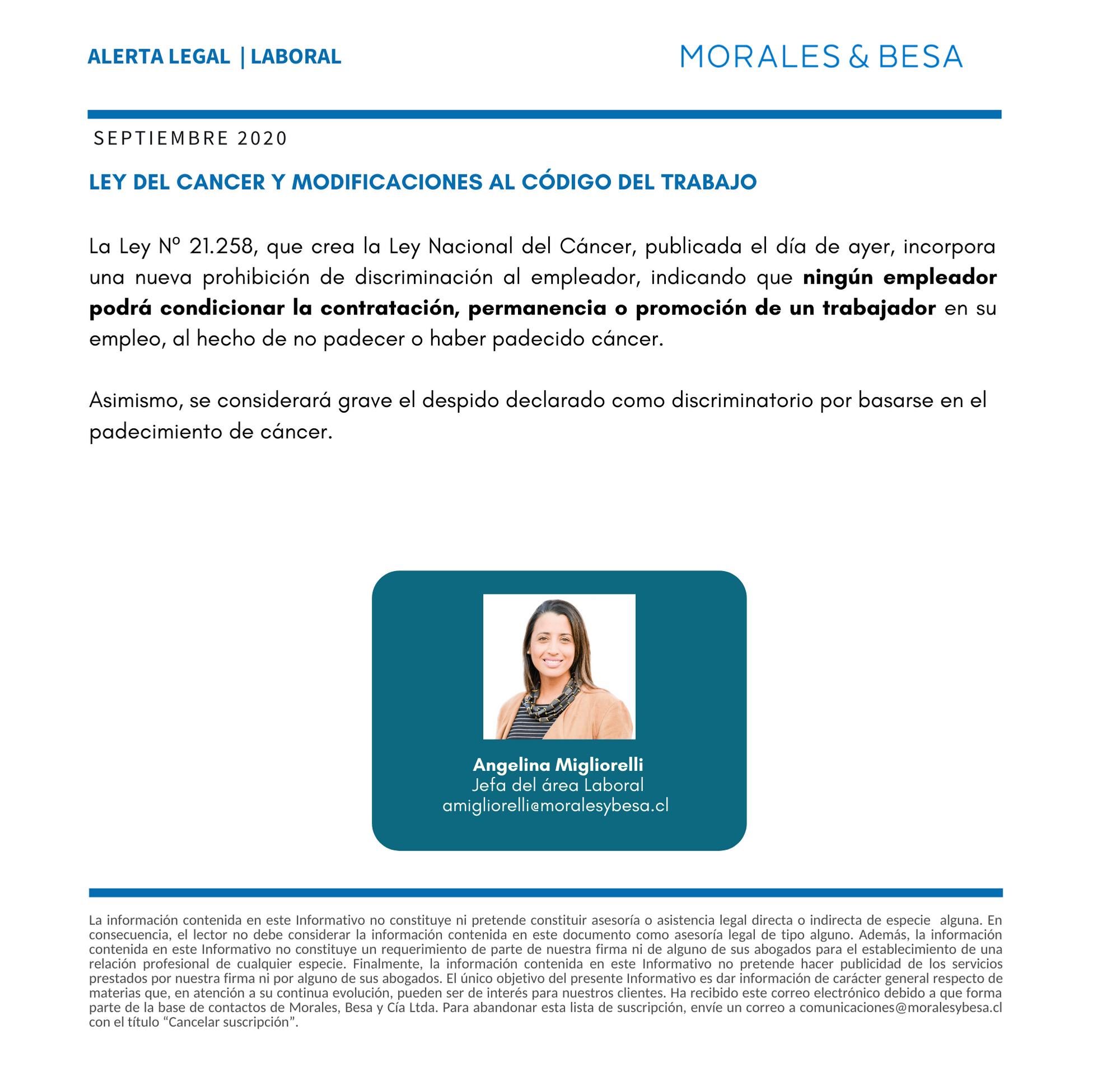 Alerta Legal M&B - Laboral - Septiembre 2020