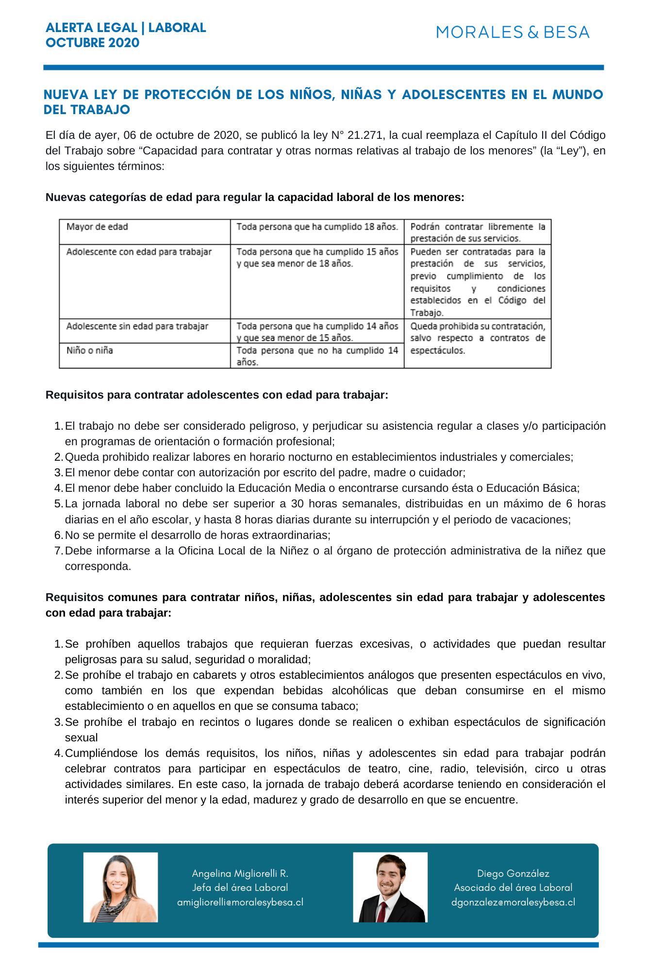 Alerta Legal M&B - Laboral - Octubre 2020