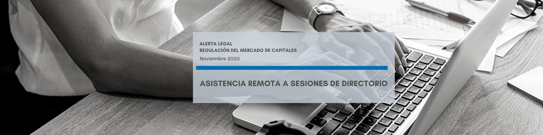 Alerta Legal M&B | Asistencia remota a sesiones de directorio