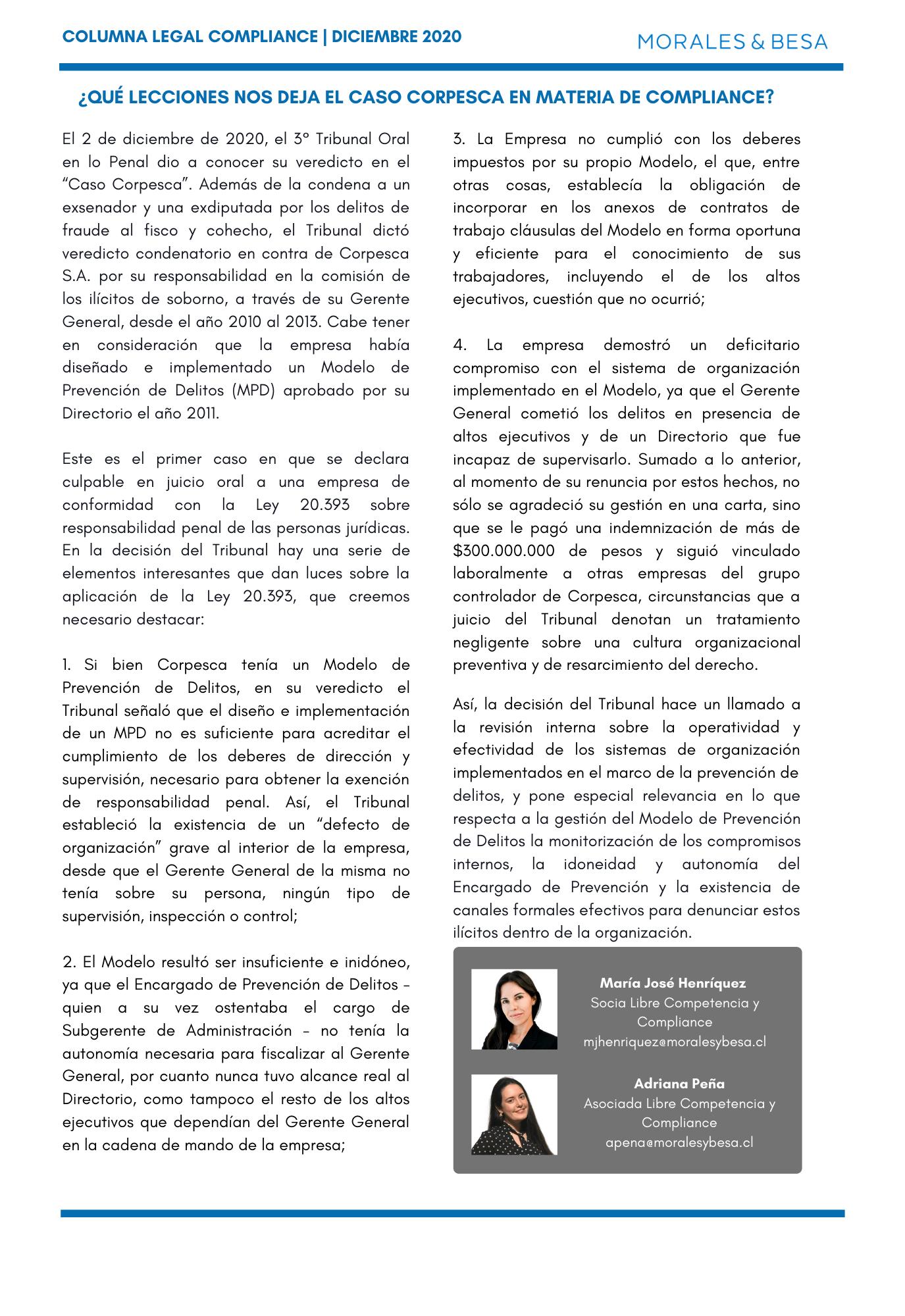 Columna Legal Compliance - Caso Corpesca (2)
