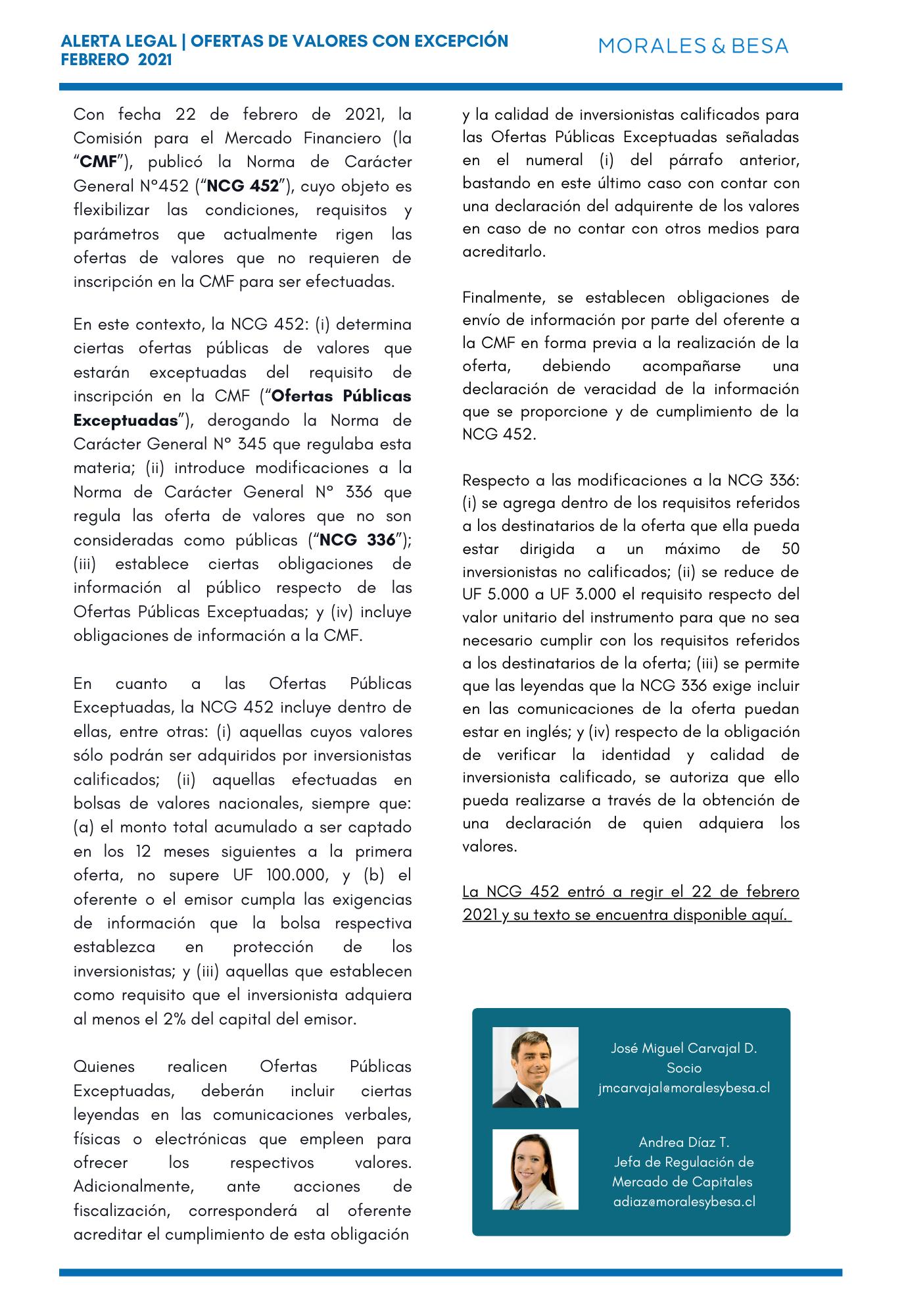 Alerta Legal M&B - Ofertas de Valores con Excepción (1)