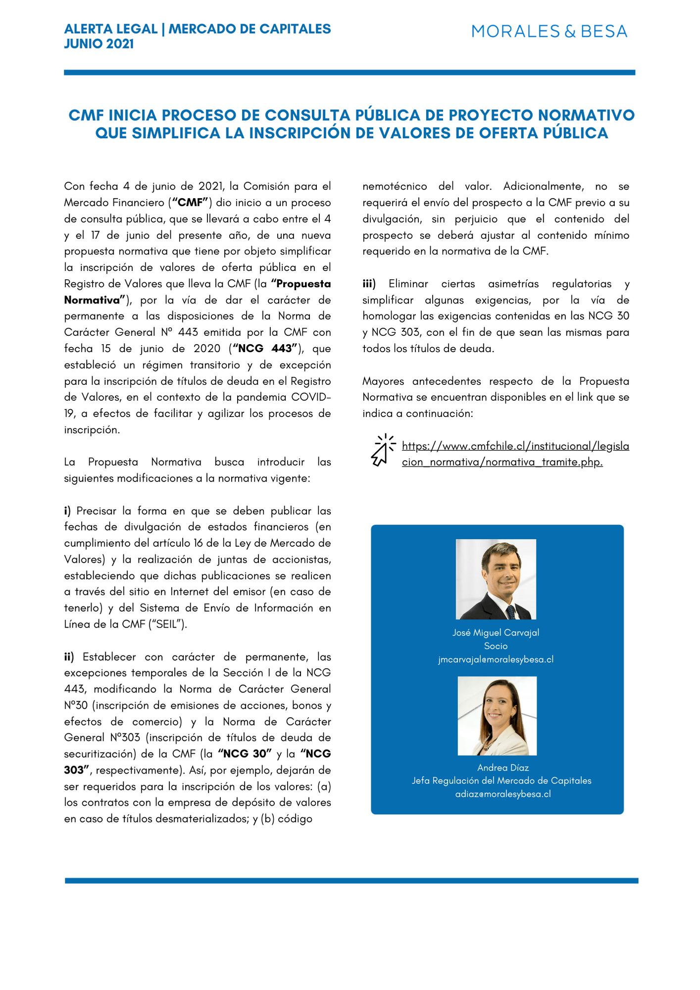 Alerta Legal M&B - Mercado de Capitales