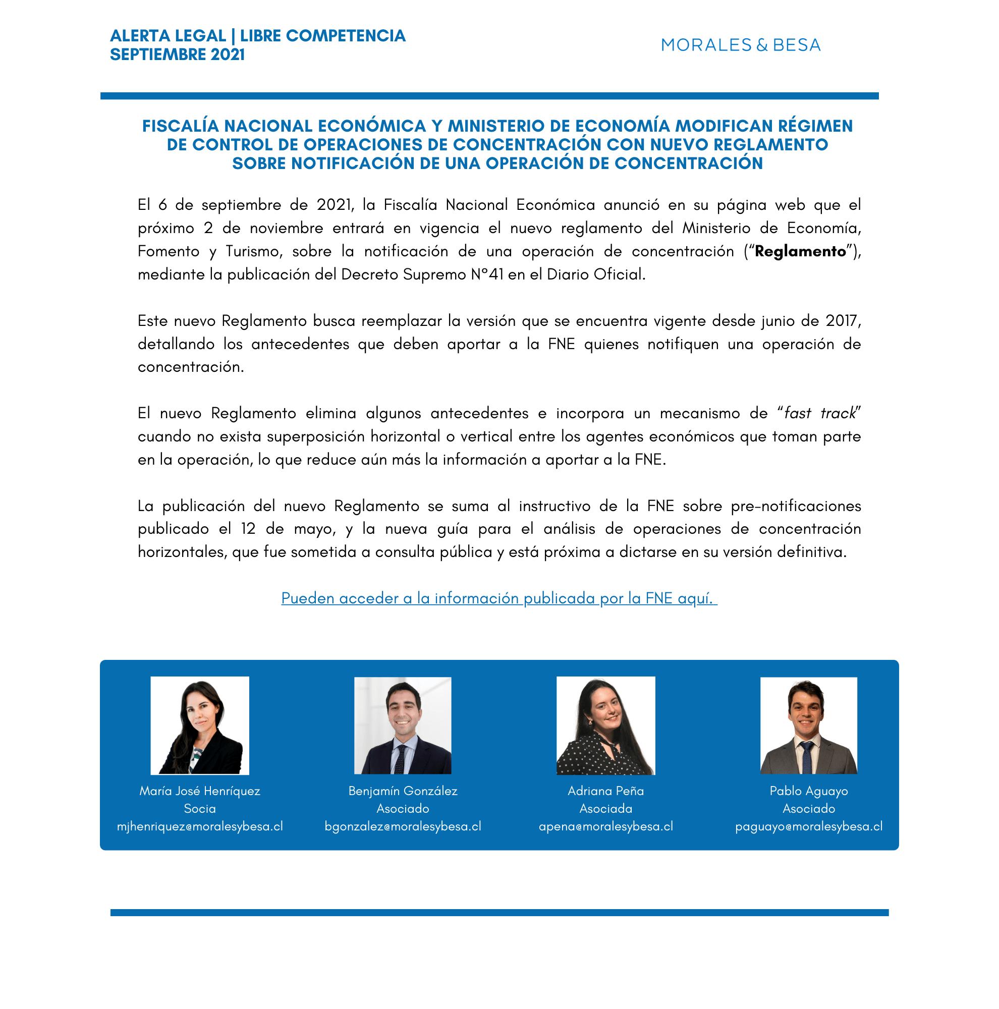 Alerta Legal M&B - Libre Competencia - Septiembre 2021